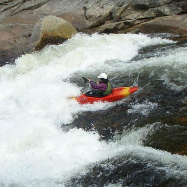 Risa Shimoda on Wilson Creek Ten Foot Falls